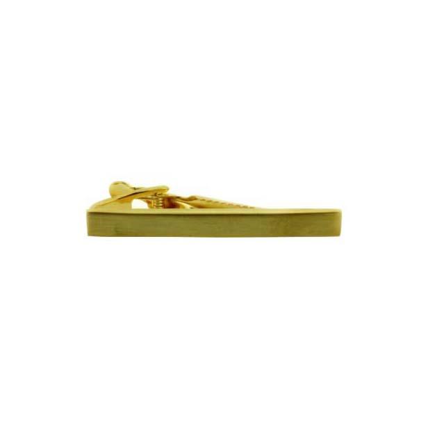 Brushed Gold Coloured Plain Tie Bar