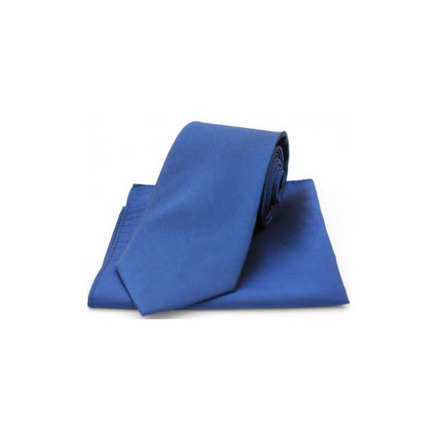 Royal Blue Tonic Silk Tie and Pocket Square