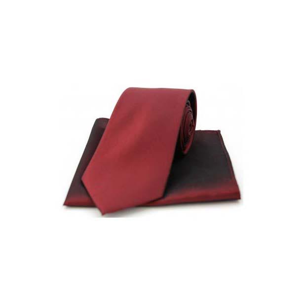 Wine Tonic Silk Tie and Pocket Square
