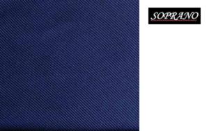Woven Navy Tie In Diagonal Ribbed Luxury Silk
