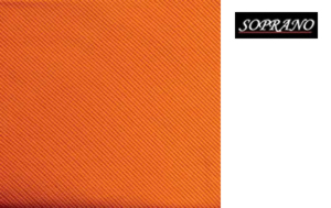 Woven Orange Tie In Diagonal Ribbed Luxury Silk