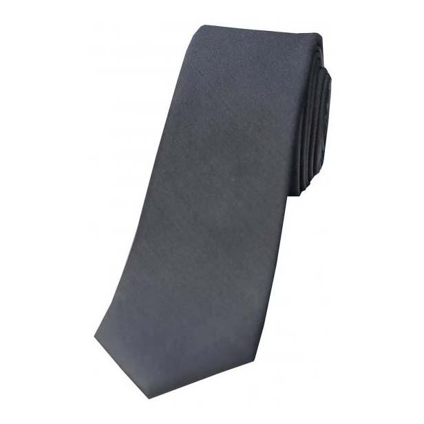 Tonic Grey Thin Silk Tie