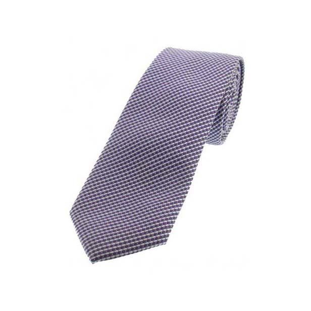 Lilac Patterned Thin Polyester Tie