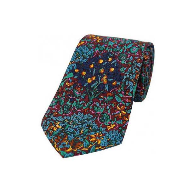 Multi Coloured Trees and Leaves Luxury Silk Tie