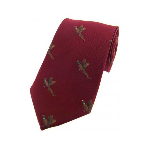 Flying Pheasants on Wine Country Silk Tie