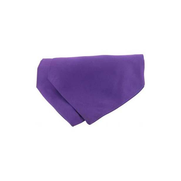 Purple Satin Luxury Silk Cravat