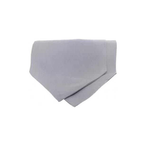 Silver Satin Luxury Silk Cravat