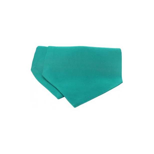 Turquoise Satin Luxury Silk Cravat