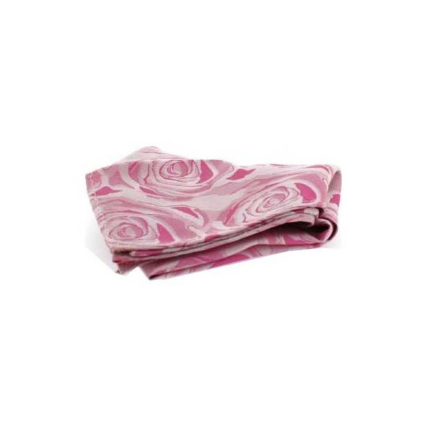 Fuchsia Rose Patterned Silk Pocket Square