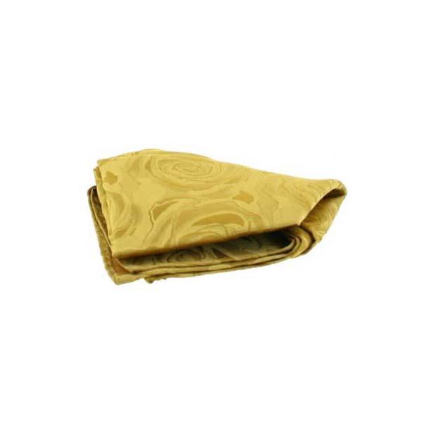 Gold Rose Patterned Silk Pocket Square
