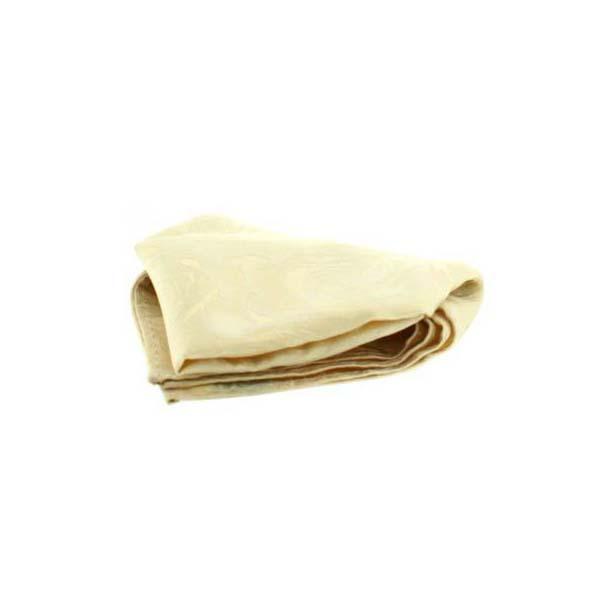 Ivory Rose Patterned Silk Pocket Square