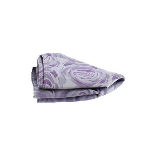 Lilac Rose Patterned Silk Pocket Square