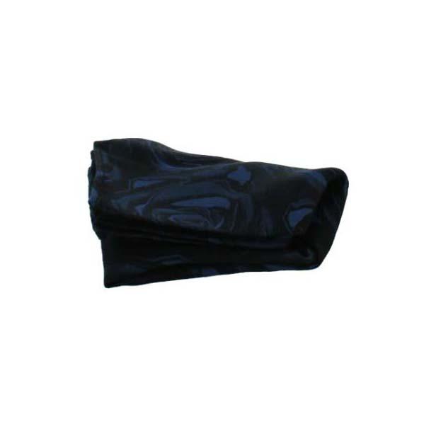 Navy Rose Patterned Silk Pocket Square