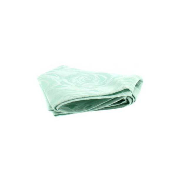 Sea Green Rose Patterned Silk Pocket Square