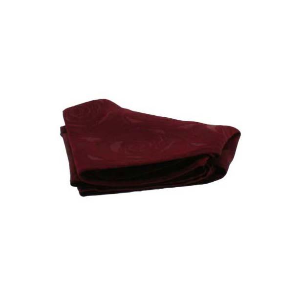 Wine Rose Patterned Silk Pocket Square