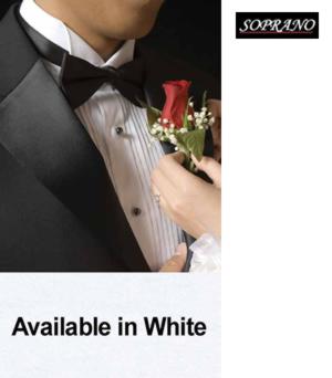 White Pre Tied Poly Bow Tie