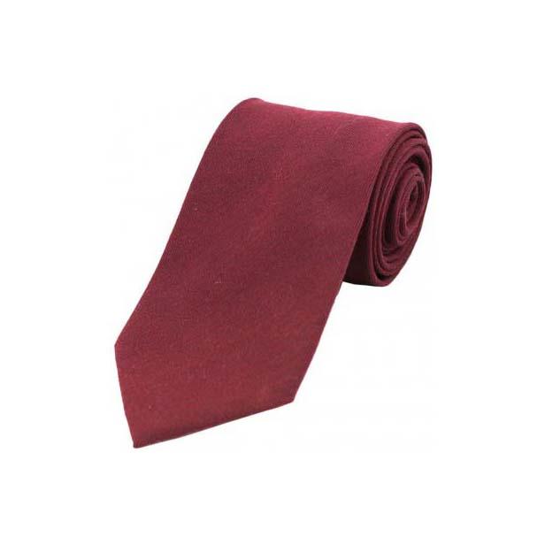 Plain Burgundy Wool Rich Tie