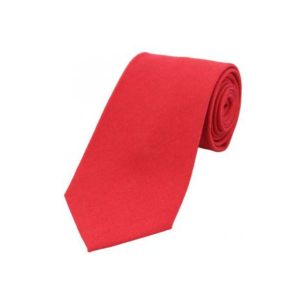 Plain Red Wool Rich Tie