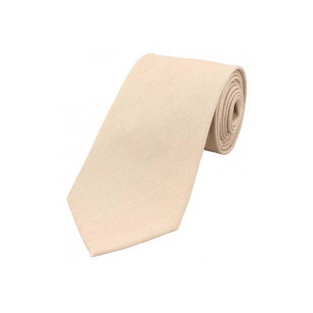 Plain Ivory Wool Rich Tie