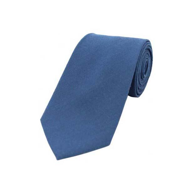 Plain Blue Wool Rich Tie
