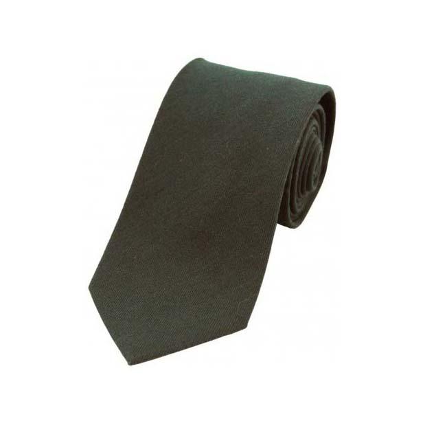 Plain Moss Green Wool Rich Tie