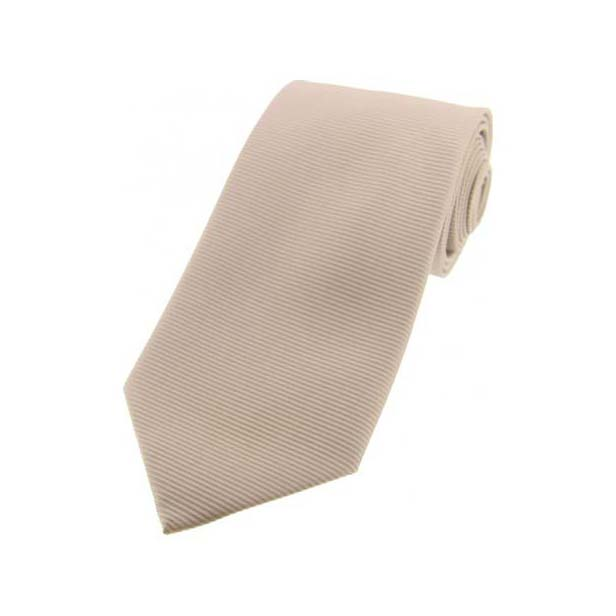 Camel Horizontal Ribbed Polyester Tie