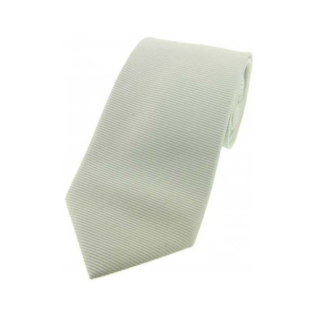 Ivory Horizontal Ribbed Polyester Tie