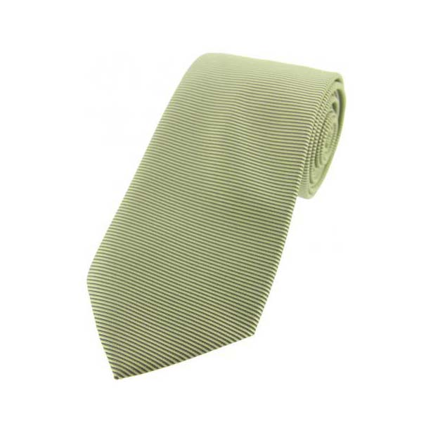 Lime Green Horizontal Ribbed Polyester Tie