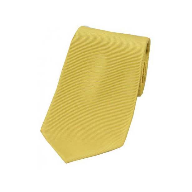 Sunshine Yellow Horizontal Ribbed Polyester Tie