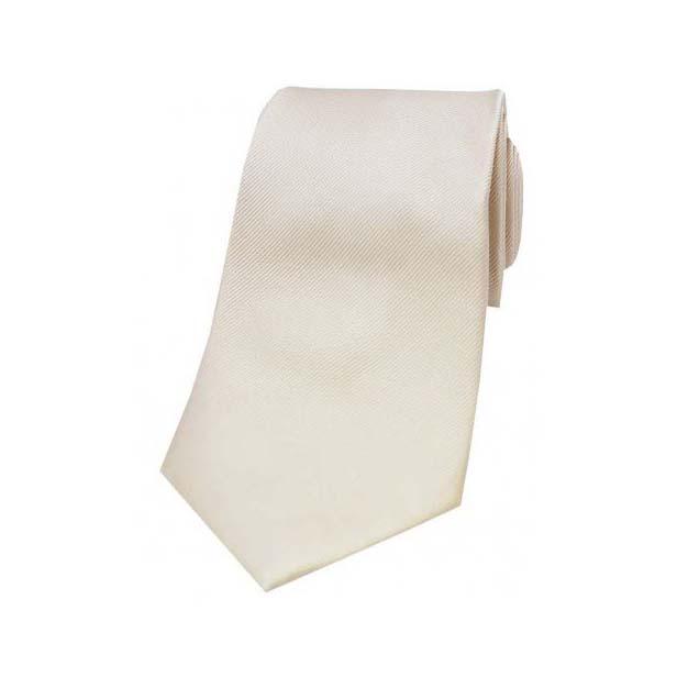 Camel Diagonal Ribbed Plain Silk Tie