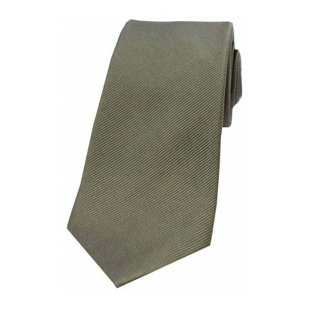 Country Green Diagonal Ribbed Plain Silk Tie