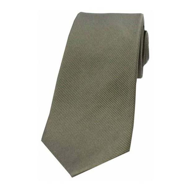 Country Green Diagonal Ribbed Plain Silk Tie