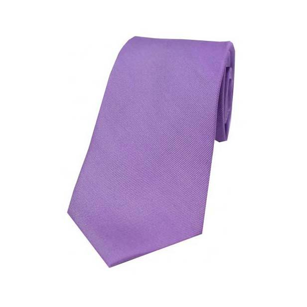 Plain Lilac Diagonal Twill Silk Tie