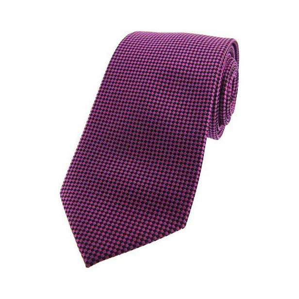 Red and Black Textured Silk Tie