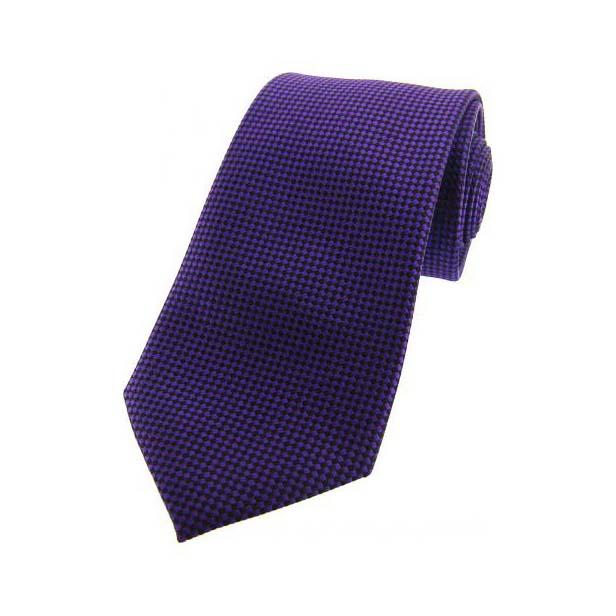 Purple and Navy Textured Silk Tie
