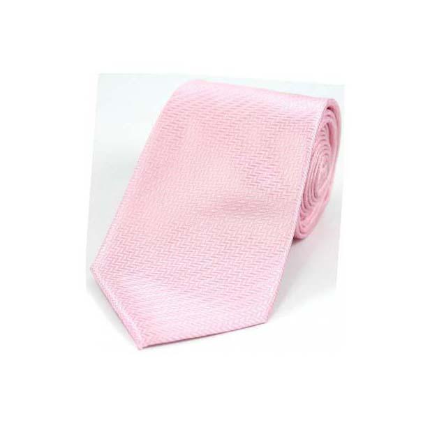 Pink Herringbone Woven Silk Tie