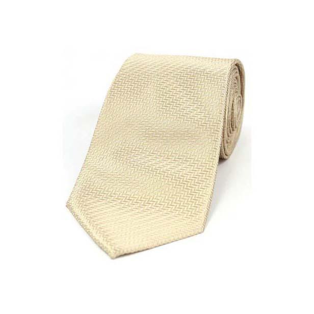 Camel Herringbone Woven Silk Tie