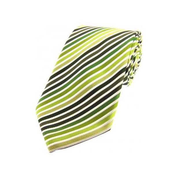 Shades of Green Striped Silk Tie