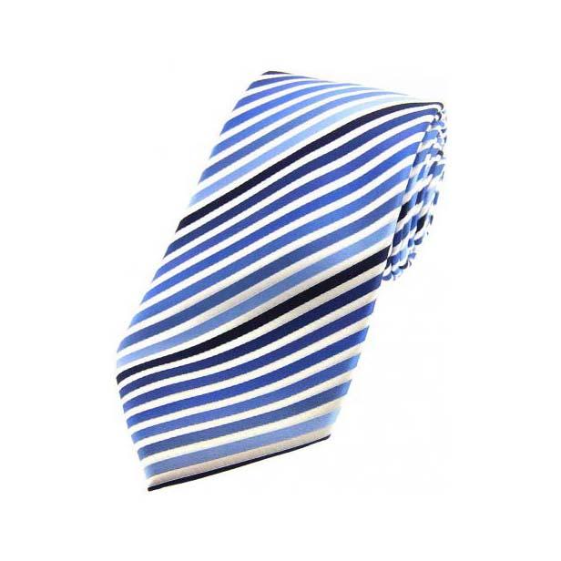 Shades of Blue Striped Silk Tie