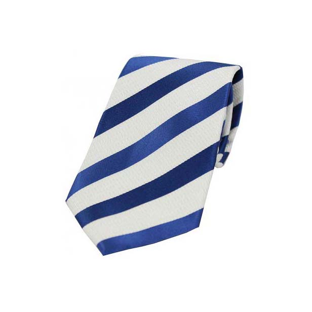 Lilac and White Striped Silk Tie