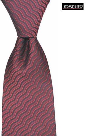 Di Maggio Ruby Red Wavy Tie