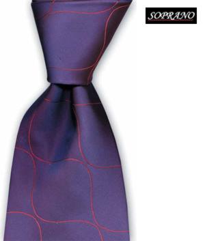 Tonic Wavy Wine Tie