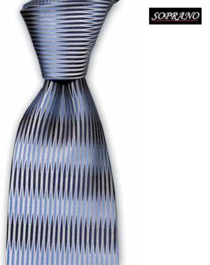 Italian Retro Blue High Fashion Tie