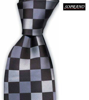 Checkerboard Grey Tonal Tie