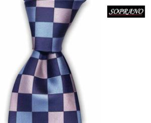 Checkerboard Sky Pink Tie