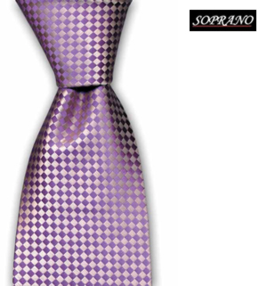 Lilac Tonal Diamond Silk Tie