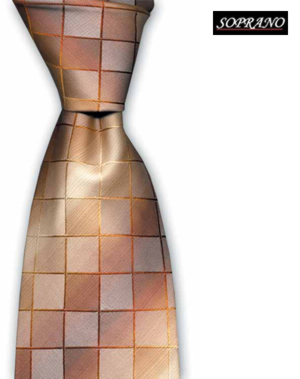 Luxury Double Woven Orange Tie