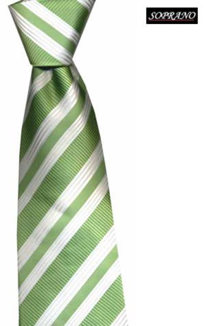 Woven Silk Green Striped Tie