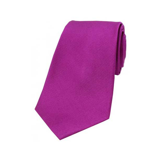 Magenta Diagonal Ribbed Silk Tie