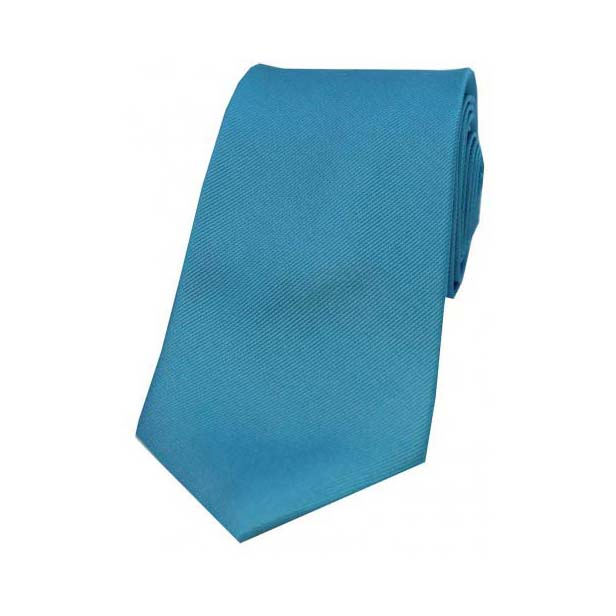 Petrol Blue Diagonal Ribbed Silk Tie
